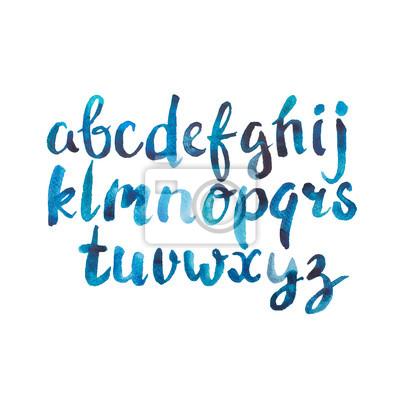 Bunte Aquarell Aquarellschriftart handgeschriebene Hand gezeichnet