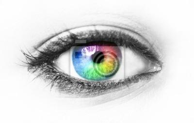 Fototapete Bunte Auge
