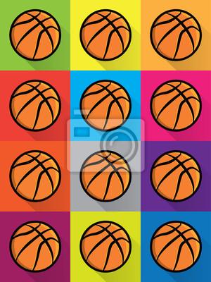 Bunte Basketball-Icons Hintergrund Illustration