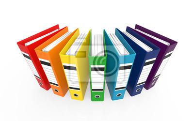 Bunte Buro Ordner Fototapete Fototapeten Dossier Schreibwaren
