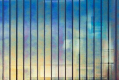 Fototapete Bunte Büro-Wand aus Glas, Hintergrund