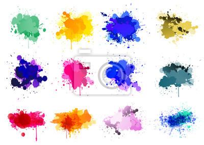 Fototapete Bunte Farbe splatters