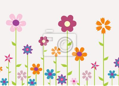 bunte Frühlingsblumen Vektor-Illustration