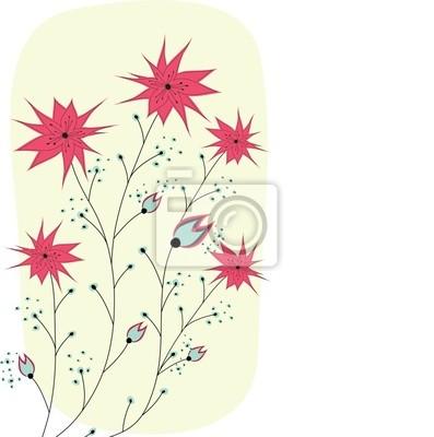 Bunte Frühlingsblumen. Vektor-Illustration