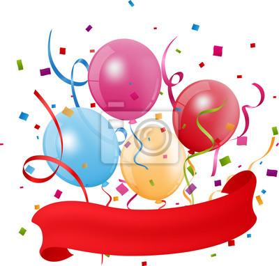 Bunte Geburtstag Ballon Mit Konfetti Fototapete Fototapeten Helium