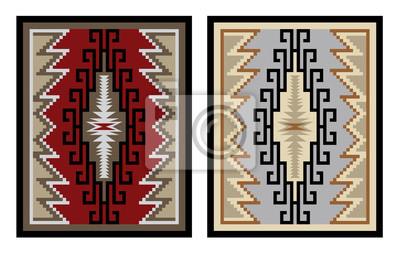 Bunte geometrische muster, decke, banner. amerikanischer indianer ...