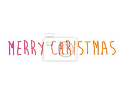 Bunte gradienten isoliert handschrift wort frohe weihnachten ...