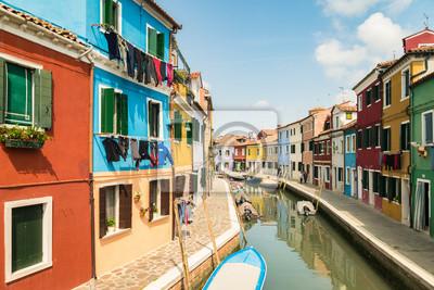 Häuser In Italien bunte häuser durch kanal in burano venedig italien fototapete