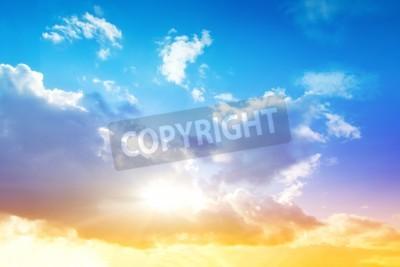 Fototapete Bunte Himmel und Sonnenaufgang Natürliche Landschaft