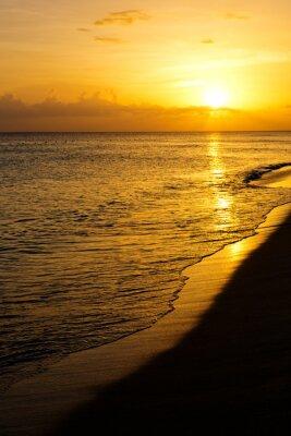 Fototapete Bunte Meer Sonnenuntergang.