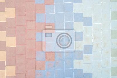 Bunte Mosaikfliesen Fußboden Mosaikfliesenmuster - Mosaik fliesen fußboden