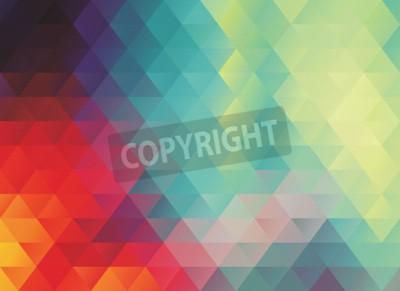 Fototapete Bunte polygonale abstrakte Vektor Textur oder Hintergrund