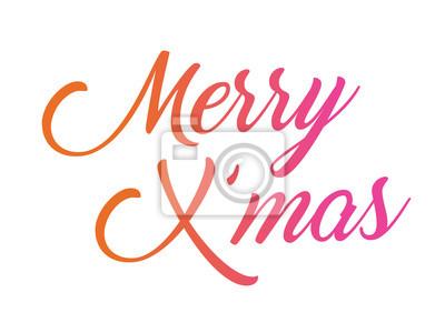 Bunte steigung isoliert hand schriftlich wort frohe weihnachten ...