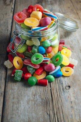 Fototapete Bunte Süßigkeiten Gummi
