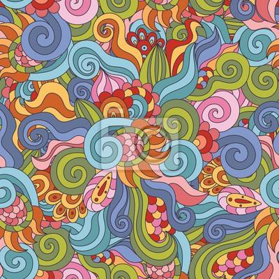 Bunte Zentangle nahtlose Muster