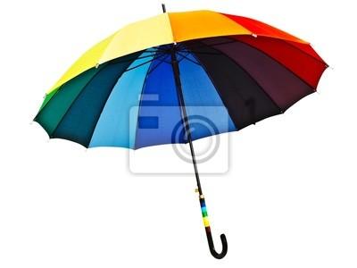 bunten Regenschirm
