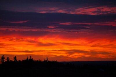 Fototapete Bunter Himmel bei Sonnenaufgang