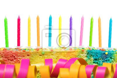 Bunter Kuchen Mit Kerzen Fototapete Fototapeten Colorfulness