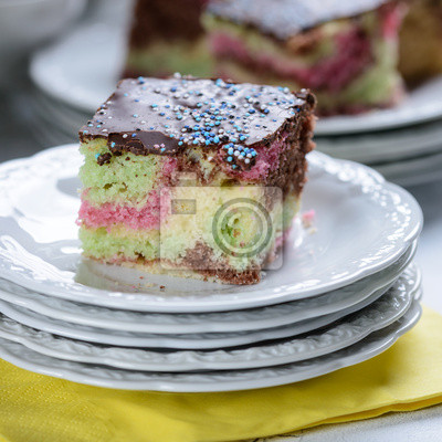 Bunter Kuchen Zum Kindergeburtstag Fototapete Fototapeten
