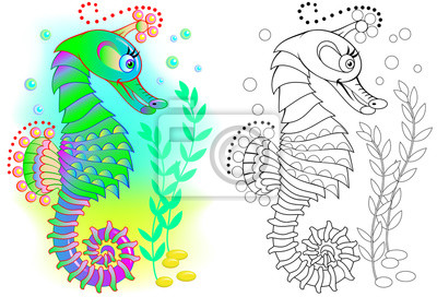 Buntes Und Schwarzweiss Muster Für Das Malen Illustration Von