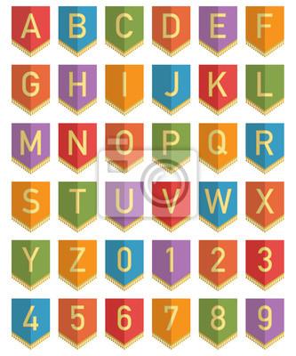 bunting alphabet