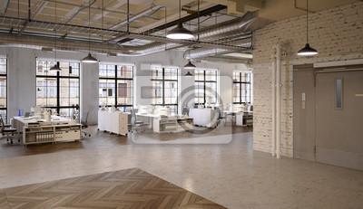Buro Agengy In Chicago Industrie Loft Agentur Bu Fototapete