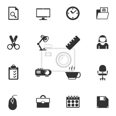 Buro Icon Set Fototapete Fototapeten Computer Multimedia Video