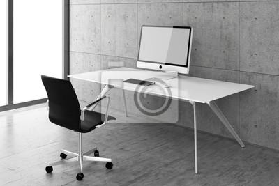 Buro Schreibtisch Arbeitsplatz Buro Pc Computer It Fototapete