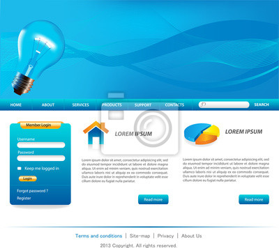 Busines website-vorlagen fototapete • fototapeten Homepage, Website ...