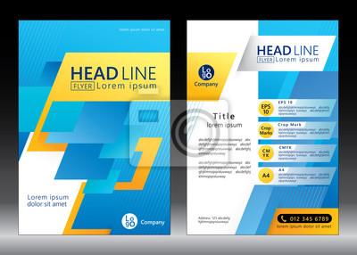 Business-Broschüre Vorlage. Broschüre Vorlage Design. Abbildung