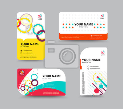 Contact Card Template | Business Card Template Business Card Layout Design Vector