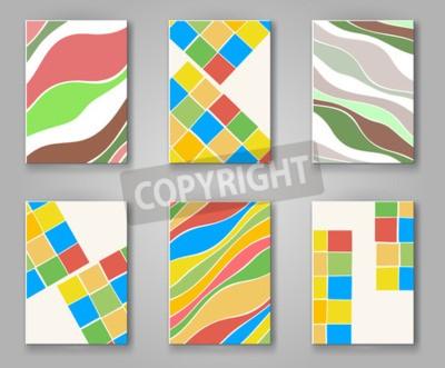 Business design vorlagen. abstraktes muster quadrat und welle ...
