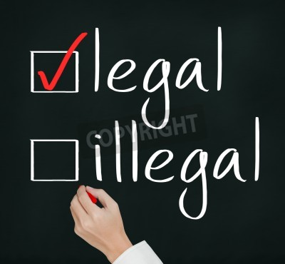 business hand writing red check mark for legal selection