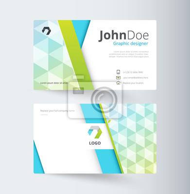 Business-kontakt-karte vorlage design. vektor vorrat fototapete ...