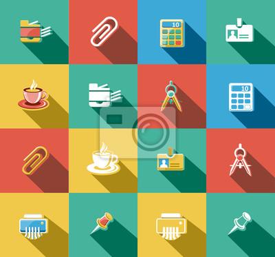 Business und Büro Flat Icons Set