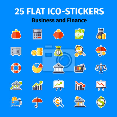 Business und Finanzen Icon in flachen gesetzt