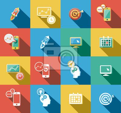 Business und Startup Flat Icons Set