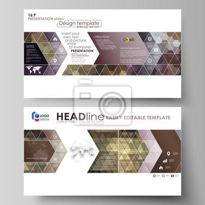 Business-vorlagen im hd-format für präsentationsfolien. einfache ...