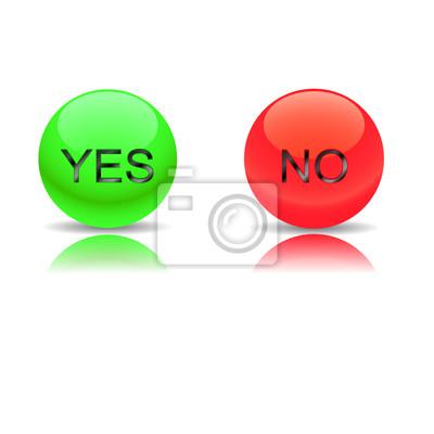 Buttons ja und nein