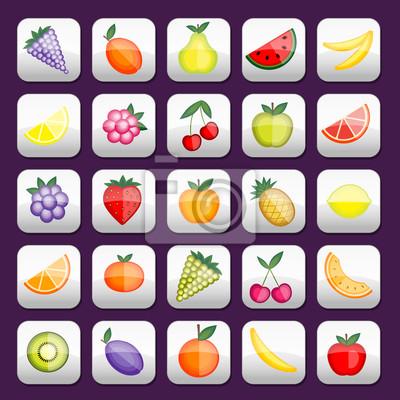 Buttons mit Obst für Ihr Design