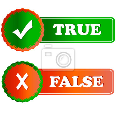 Buttons wahr und falsch