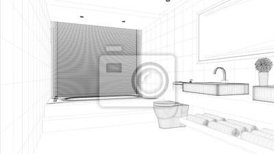 Cad raumplanung für badezimmer fototapete • fototapeten Bauplanung ...