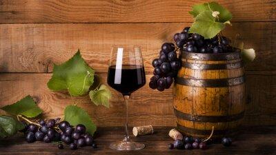 Fototapete Calice di vino rosso und Umgebung