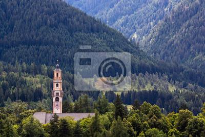 Fototapete Campanile nel bosco