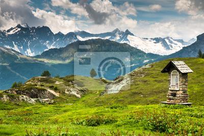 Fototapete Cappelletta in montagna