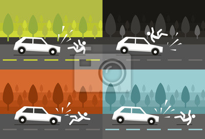 Car accident with human