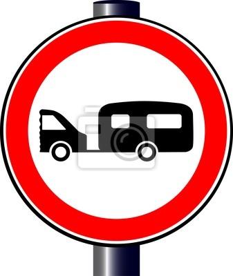 Caravan Verkehrszeichen