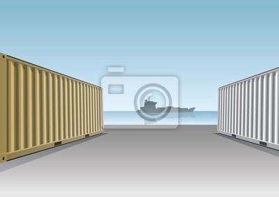 Cargo Containers an einem Dock