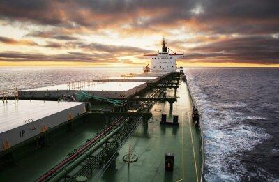 Fototapete Cargo ship underway