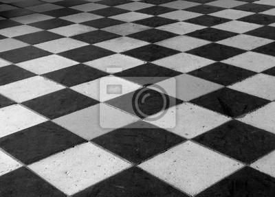 Carrelage Ancien En Noir Et Blanc Fototapete Fototapeten Alte Zeit